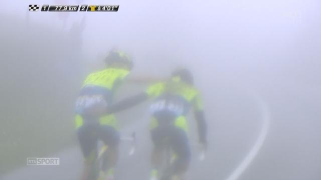 10e étape, Mulhouse-La Planche Des Belles Filles: abandon d'Alberto Contador! c'est un nouveau prétendant qui tombe et qui laisse Nibali seul favori… [RTS]