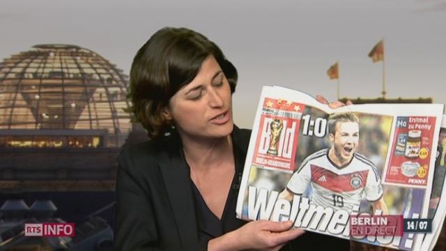 Coupe du Monde - Victoire Allemagne: les précisions d'Anne Maillet, correspondante en Allemagne [RTS]