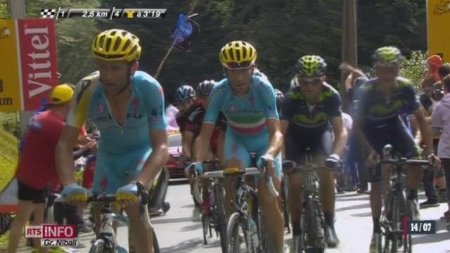 Cyclisme - Tour de France: Alberto Contador abandonne après une chute [RTS]