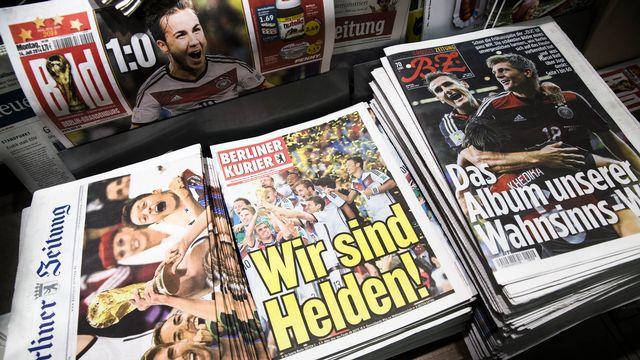La presse allemande a marqué le coup pour ce 4e sacre mondial. [Thomas Peter]