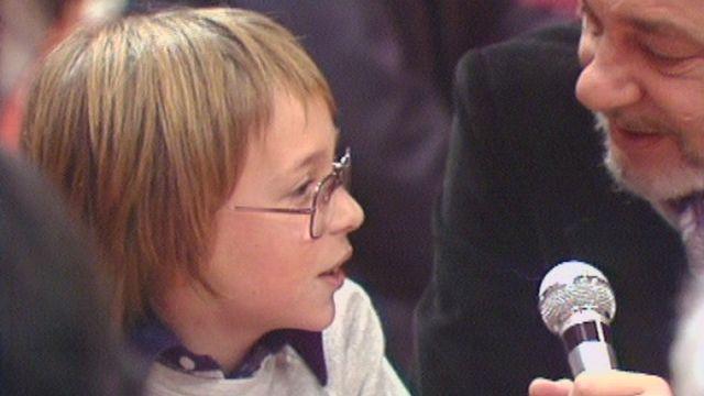 Pierrick Destraz à 10 ans. [RTS]