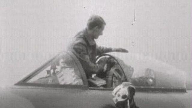 Entraînement des pilotes militaires sur Mirage en 1969. [RTS]