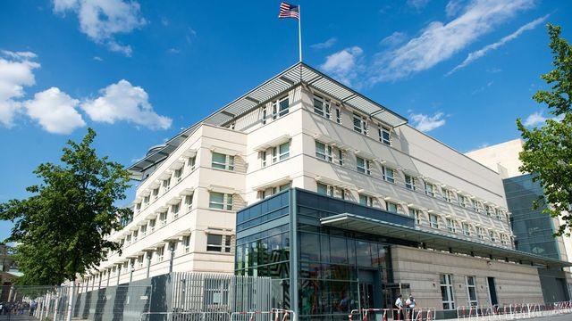 L'ambassade des Etats-Unis à Berlin. [Maurizio Gambarini - Keystone]