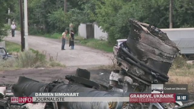 Crash aérien en Ukraine: le point avec Damien Simonard, à Chaktarsk en Ukraine