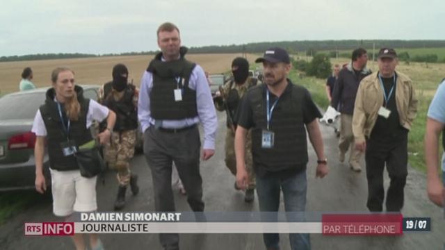 Crash Malaysia Airlines: les précisions de Damien Simonart en Ukraine [RTS]