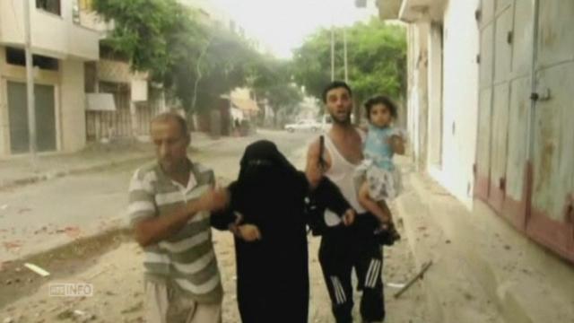 Les images très dures d'un quartier de Gaza pilonné par Tsahal [RTS]