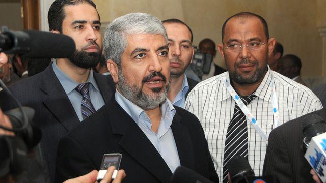 Le chef en exil du Hamas Khaled Mechaal exoge d'Israël la levée du blocus de Gaza [AFP PHOTO / KHALIL - AFP]