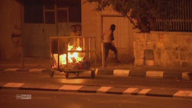 Heurts à Bethléem entre manifestants palestiniens et police israélienne [RTS]