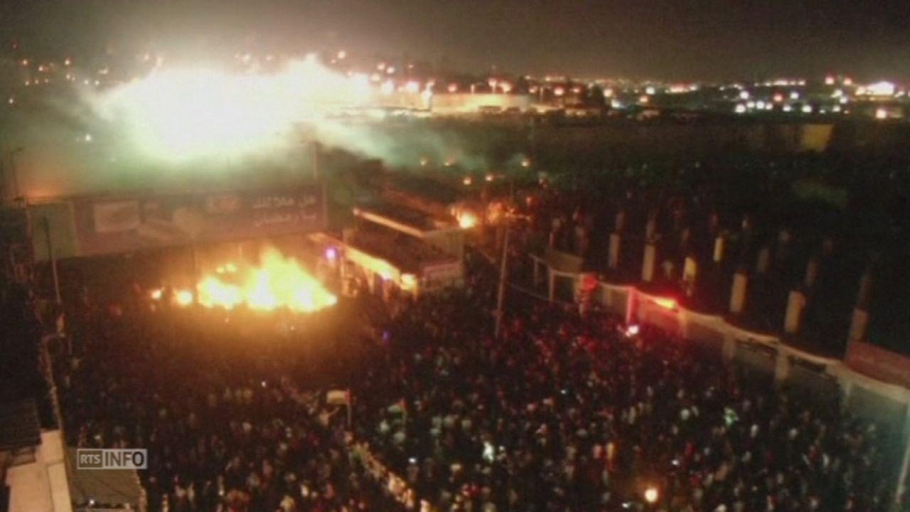 Manifestations en Cisjordanie contre l offensive a Gaza [RTS]
