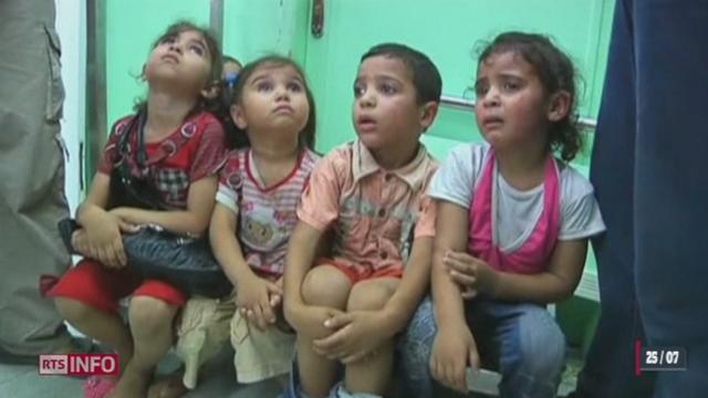 Une école des Nations Unies à Gaza a été touchée par un obus israélien tuant de nombreux enfants [RTS]