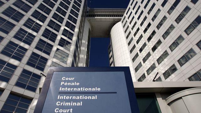 Entrée de la Cour pénale internationale dans la ville de La Haye, Pays-Bas. [Jerry Lampen - Reuters]