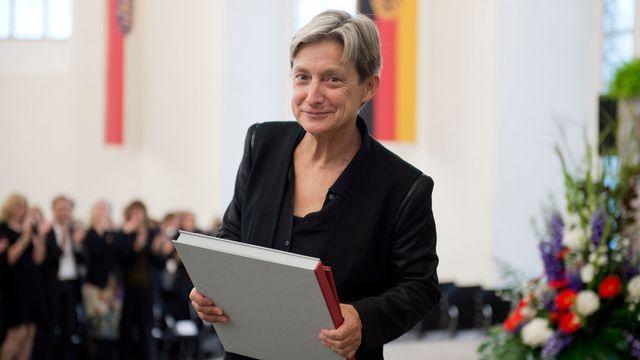 La philosophe américaine Judith Butler a reçu le prix Adorno à Francfort en 2012. [AP Photo/Thomas Lohnes - Keystone]