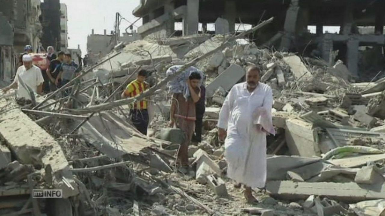 Scènes de désolation à Gaza [RTS]