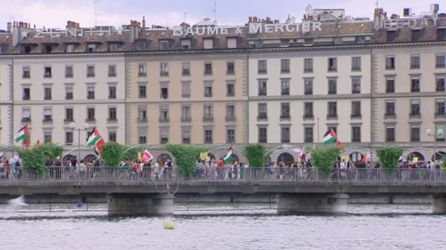 Manifestation pour le peuple palestinien à Genève [RTS]