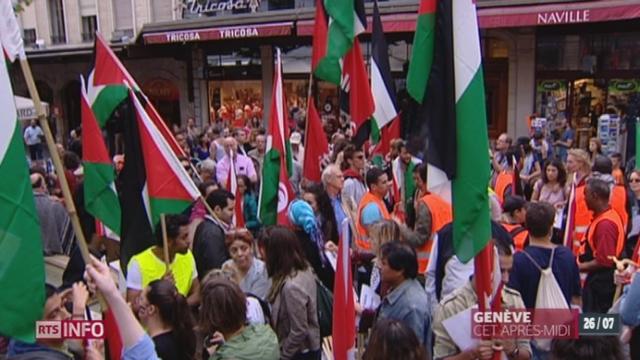 Gaza: des manifestants ont défilé à Genève [RTS]