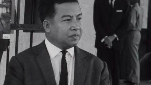 Le prince Sihanouk défend la neutralité du Cambodge. [RTS]