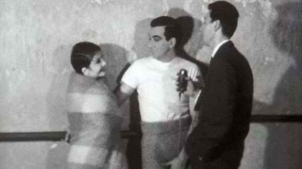 Roland Petit, chorégraphe, danse avec Zizi Jeanmaire. [RTS]
