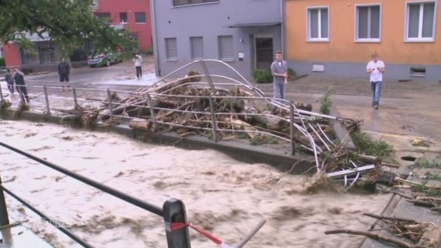 Inondations dans le canton de Saint-Gall [RTS]