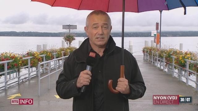 Météo désastreuse du mois de juillet: les explications de Lionel Fontannaz, prévisionniste de Météosuisse, à Nyon [RTS]