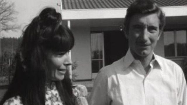 Jo Siffert et son épouse en 1968. [RTS]