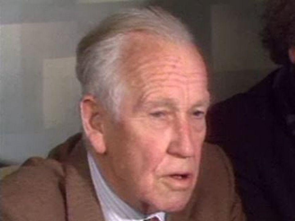 August Lindt et Cornelius Koch en 1988 [RTS]