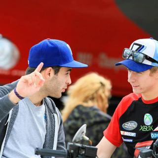 Yann Zimmer, à gauche. Round 2 Euro NASCAR: Dijon 200. [daslide.com/zimmer/photo/]