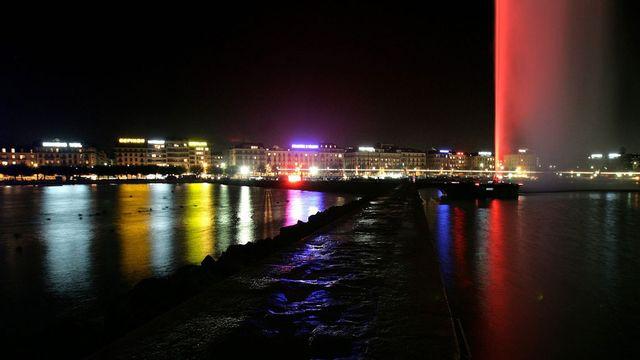 Genève, la nuit. [Martial Trezzini - Keystone]