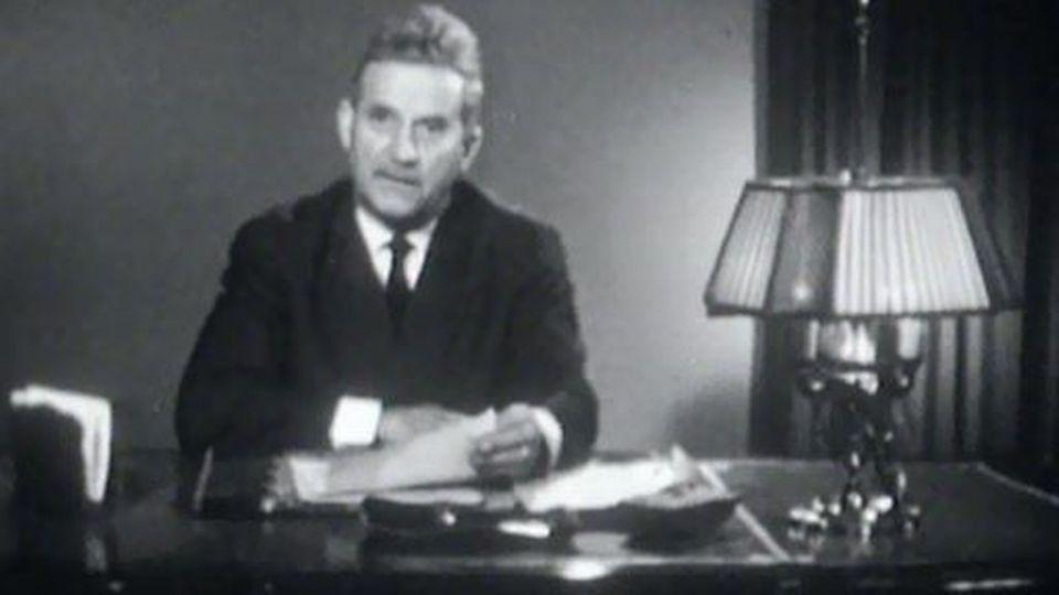 Roger Bonvin présente ses voeux au peuple suisse. [RTS]