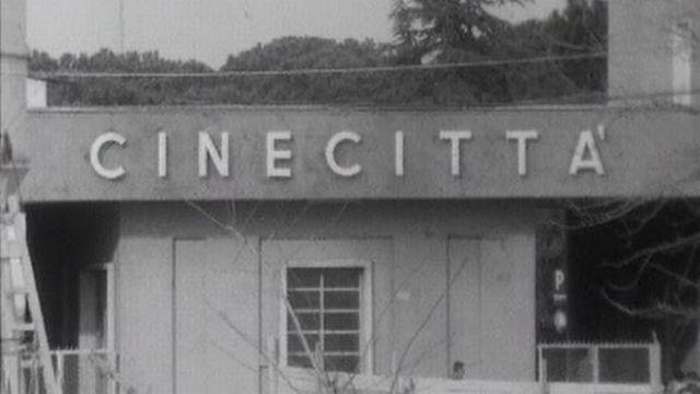 Cinecitta: tournage d'un western dans les studios italiens. [RTS]