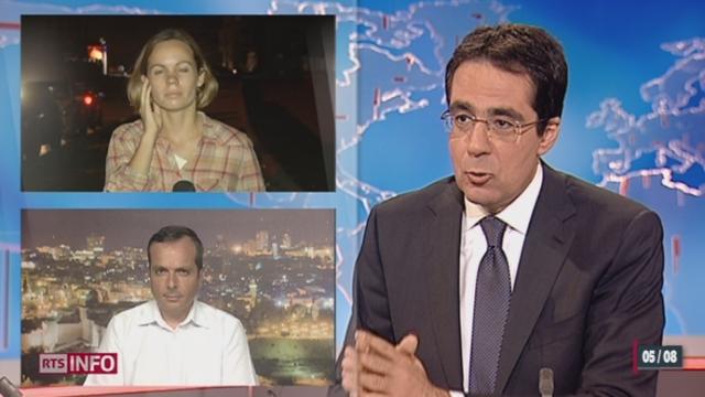 Gaza - Trêve: les précisions de Stéphane Amar, depuis Jérusalem, et Kristell Bernaud, Journaliste à Gaza [RTS]