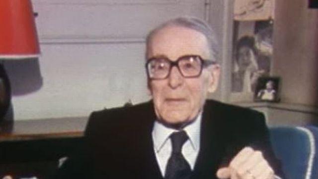 Henri Guillemin en 1985 [RTS]