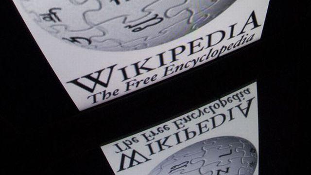 Le logo de Wikipédia. [Lionel Bonaventure - AFP]