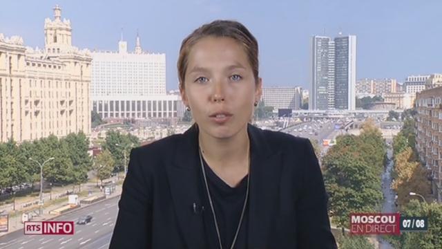 Moscou répond aux sanctions en frappant les importations occidentales: les explications de Ksenia Bolchakova, à Moscou [RTS]