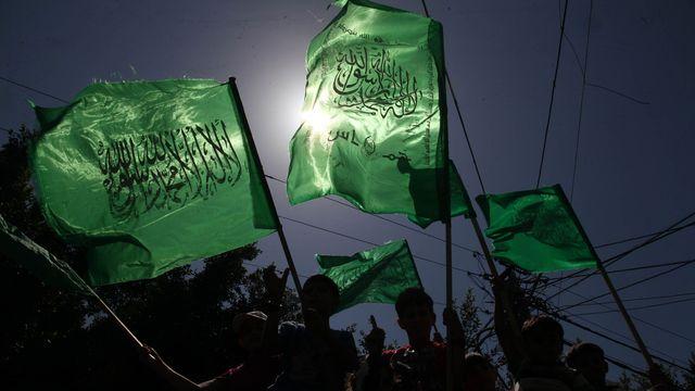 Partisans du Hamas en démonstration à Gaza. [Majdi Fathi/NurPhoto - AFP]