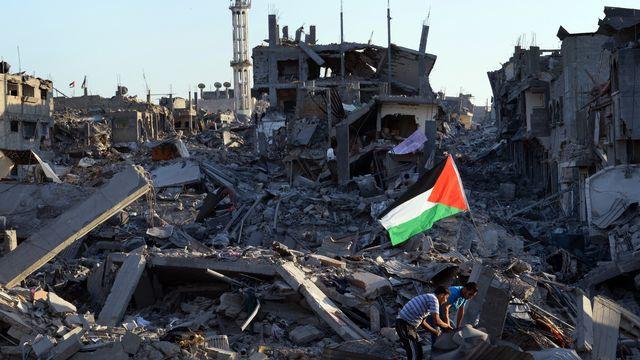 Un cessez-le-feu de trois jours a permis de mesurer l'ampleur des dégâts à Gaza. [ROBERTO SCHMIDT  - AFP]