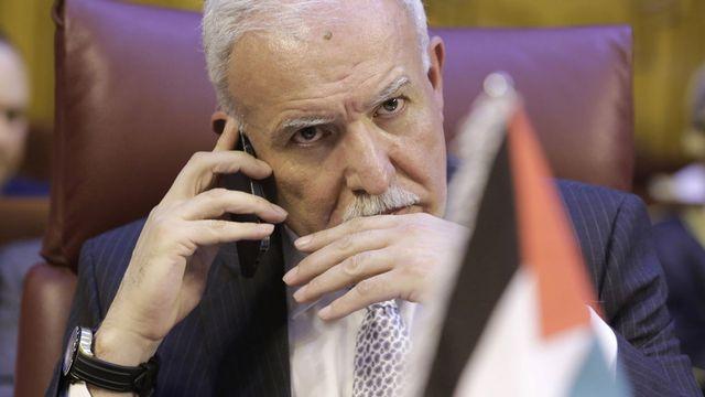 Le ministre palestinien des Affaires étrangères Nouri al-Maliki, mardi au Caire. [Amr Nabil - Keystone]
