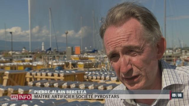 Genève attend 500'000 personnes pour le traditionnel feu d'artifice sur la rade [RTS]