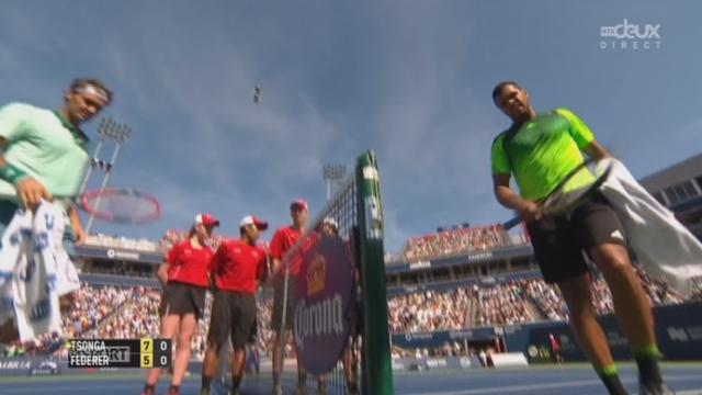 Finale, Federer - Tsonga (5-7): le Français s'empare du premier set en concrétisant son unique balle de break [RTS]