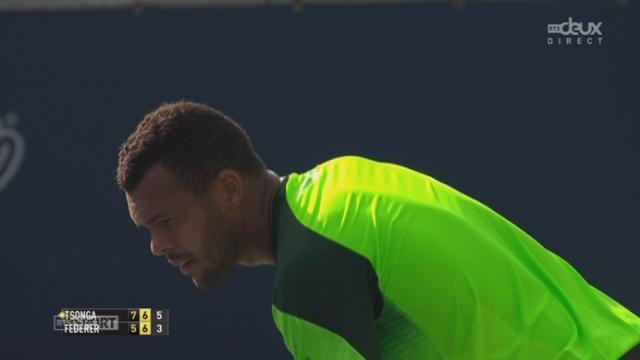 Finale, Federer - Tsonga (5-7, 6-7): Jo-Wilfried Tsonga s'impose et du côté de Federer, cette 120ème finale ne sera pas synonyme de 80ème titre [RTS]