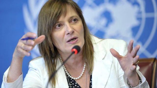 Marie-Paule Kieny, directrice générale adjointe de l'OMS. [Martial Trezzini - Keystone]
