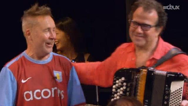 Nigel Kennedy (violon) & Richard Galliano (accordéon) au Festival de St-Prex Classics 2014. [RTS]