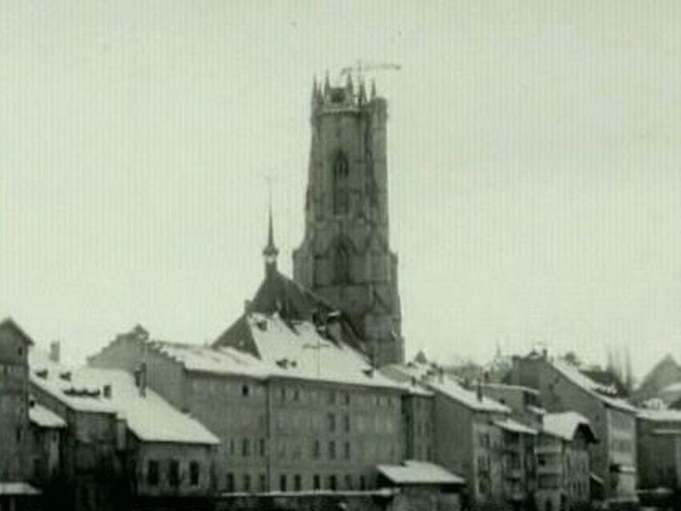 Fribourg en 1963. [TSR, 1963]