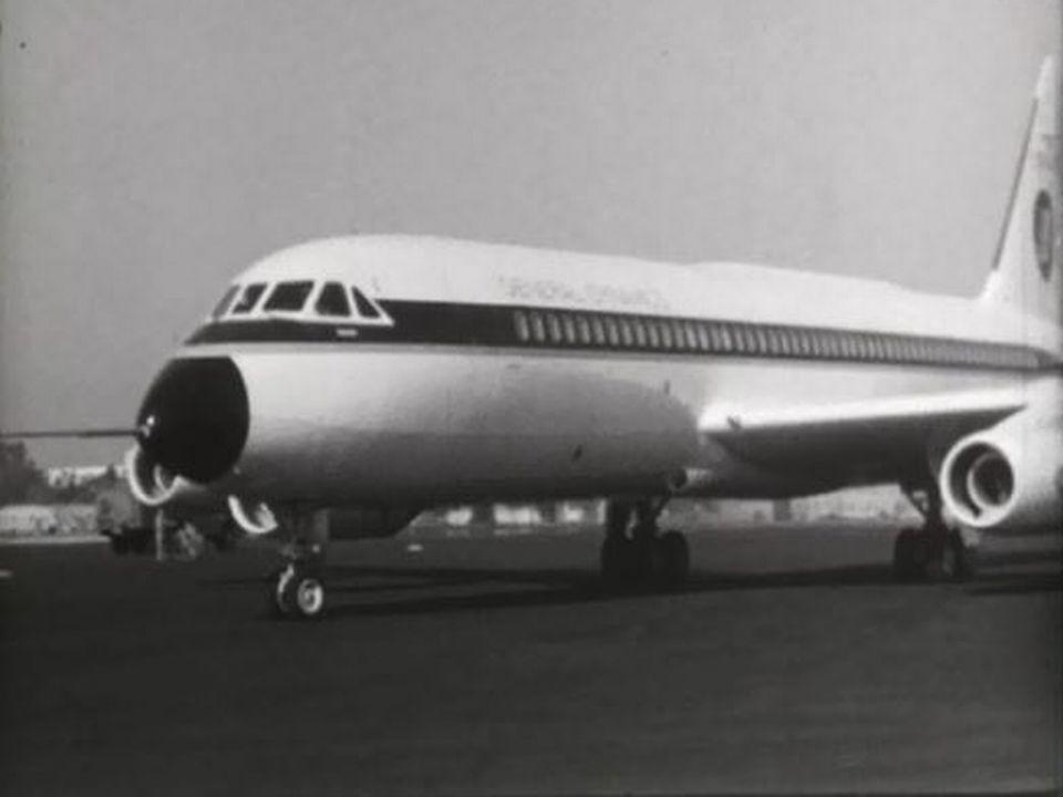 Le décollage du nouvel avion de ligne rare, le Convair 990. [RTS]