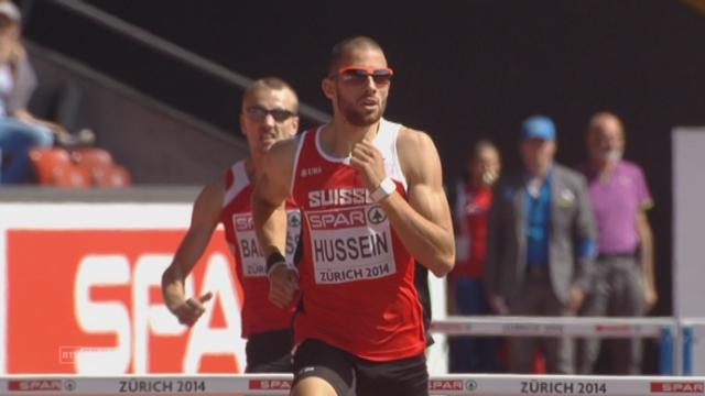 400 m haies. Kariem Hussein (SUI) passe brillamment le 1er tour [RTS]
