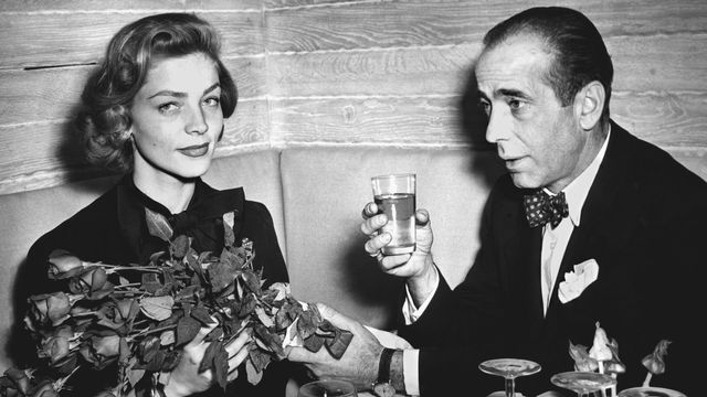 Lauren Bacall et Humphrey Bogart en 1951. [STF - AFP]