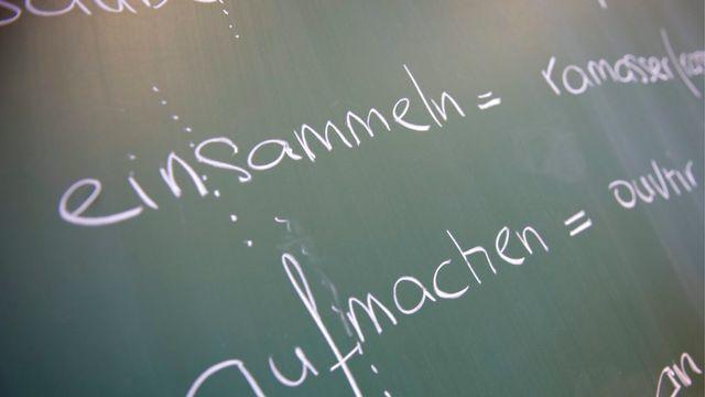 L'enseignement du français quittera les tableaux noirs des écoles primaires thurgoviennes. [Georgios Kefalas]