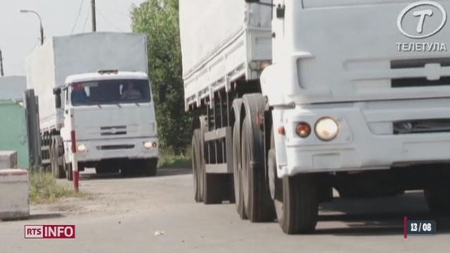 Près de 300 camions partis de Russie arrivent en Ukraine [RTS]