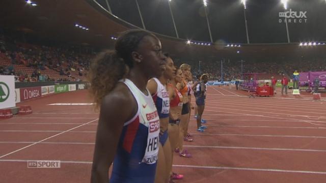 100 m dames. Finale: [RTS]