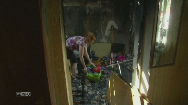 Des civils victimes de bombardements à Donetsk [RTS]