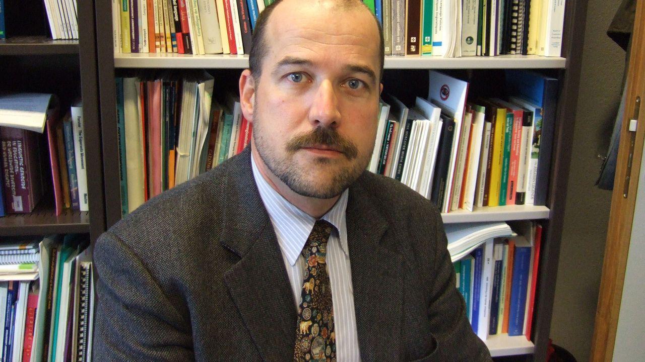 François Grin, professeur d'économie des langues à l'Université de Genève. [RTS]